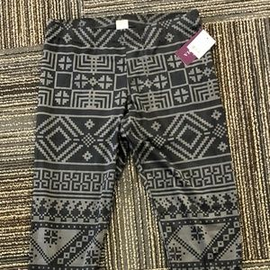 Vigoss Geometric Printed Grey leggings